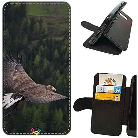 Custodia cover LIBRO PORTAFOGLIO per Apple Iphone 7 Plus -sb 383 Aquila
