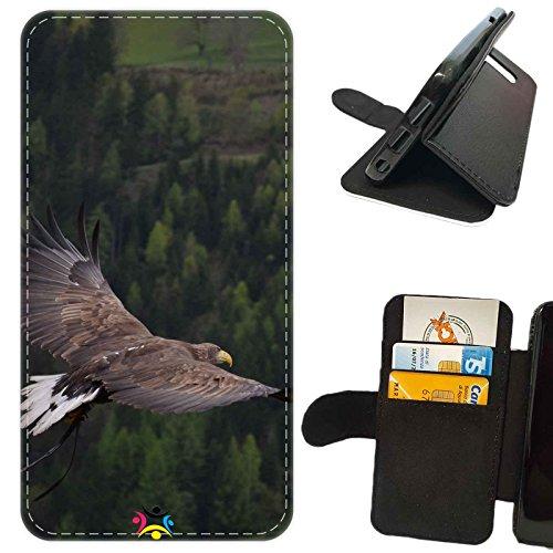 Custodia cover LIBRO PORTAFOGLIO per Apple Iphone 7 -sb 383 Aquila