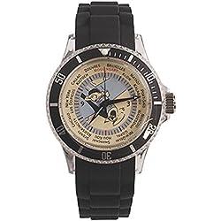 Reloj de pulsera con correa en silicona Tintín de viaje 82412 (2012)