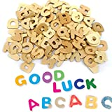 #5: TOYMYTOY DIY Painting Wooden Alphabet Set - 104Pcs Letter Puzzles, Baby Learning Toys