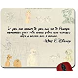 If You Can Dream It, You Can Do It Walt Disney Quote mouse pad computer mousepad