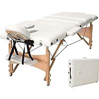 Vesgantti Table de Massage Portable en Bois Table Thérapie Pliante Lit de Massage Professionnel avec Housse de Transport…