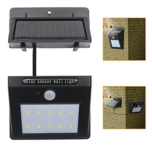 Zology Éclairage solaire imperméable à l'eau détachable Capteur de mouvement Lumières de sécurité pour le garde-plancher de jardin et l'éclairage extérieur de patio