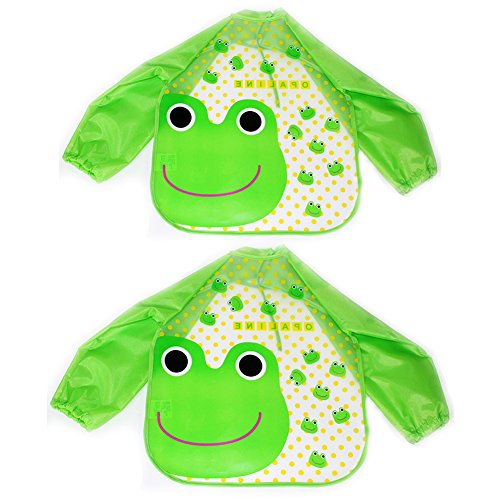 2pcs-baby-bibs-apron-long-sleeve-waterproof-feeding-painting-art-cute-cartoon-toddler-saliva-towel-b