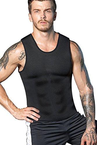 Camiseta Reductora LaLaAreal Hombre Faja Reductora Adelgazante de Neopreno Compresion para Perdida de Peso, Faja Abdomen y Barriga