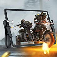 Tablets Game Controller for PUBG Mobile, Six Finger Gamepad Auxiliary Grip Trigger Switches joystick for iPad