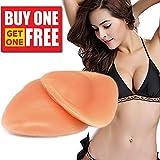 Songwin BH Insert Pads,Silikon BH Einlagen Push Up Bra Einlagen Brust Vergrößerung für Badeanzug und Bikini.(Nude)