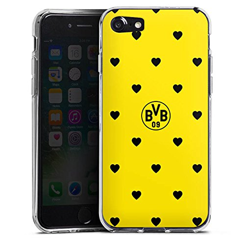 Apple iPhone X Silikon Hülle Case Schutzhülle Borussia Dortmund BVB Herzen Silikon Case transparent