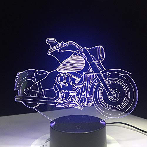 Neueste motorräder motor fan geschenk fernbedienung 3d illusion led nachtlicht 7 farben kreative usb powered schreibtisch tisch lava lampe han-7929