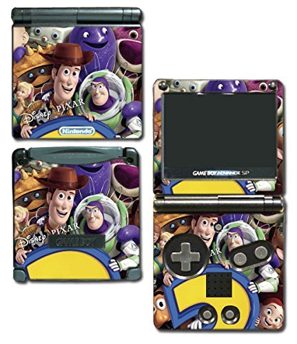 Toy Story 1 2 3 4 Buzz Lightyear Woody Jessie Barbie Ken Video Game Vinyl Decal Skin Sticker Cover for Nintendo GBA SP Gameboy Advance System by Vinyl Skin Designs