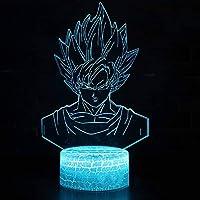 Led Dormitorio 3D 7 Colores Cambian El Entorno De Iluminación Luz Nocturna Dragon Ball Personaje De