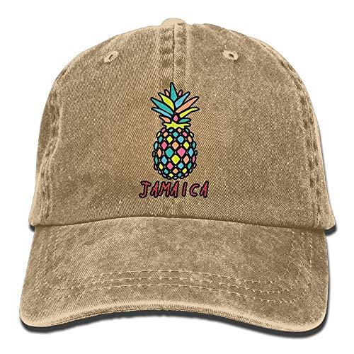 Men Women Classic Denim Jamaica Pineapple Adjustable