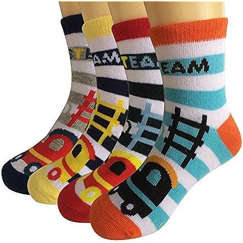 Ambielly Baby Boy Cozy calcetines de algodón suave bebé calcetines niños calcetines Value Pack