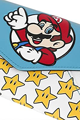 Super Mario Mario & Sterne Portefeuille rouge/jaune/bleu