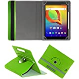 Fastway Rotating 360° Leather Flip Case Cover For Alcatel A3 10 (VOLTE) 16 GB 10.1 Inch With Wi-Fi+4G Tablet Green