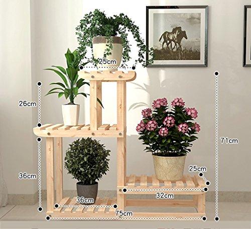 LWJJHJ Gartenregale Holzregal Blumenregal Holzregal Blumenständer Standregal Blumenregal Blumenständer für innen (Design : A2)