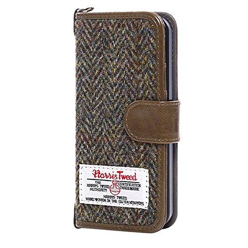 Womens Brown Importiert (Iphone 7 plus Fall, iphone 7 plus Mappenkasten, MONOJOY Harris Tweed-Flipfolio-Fallabdeckung mit Kartenschlitzgeldbeutel-magnetischer Haken für Apfel iphone 7 plus(Kaffee))