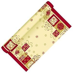3m rolle tischl ufer 40cm geschenke creme bordeaux stoff hnlich tischband tischdeko papier. Black Bedroom Furniture Sets. Home Design Ideas