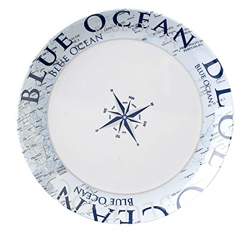 Navyline Blue Ocean - Hart-Kunststoff Dessertteller Geschirr Für Boote