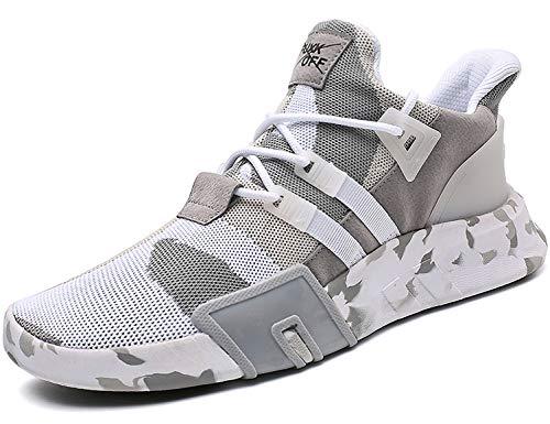 SINOES Unisex Laufschuhe Sportschuhe mit Klettverschluss Outdoor Fitness Schuhe Hallenschuhe Leichte und Atmungsaktive für Herren Damen