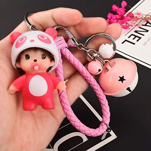Xlq Schlüsselanhänger Für Frauen Armbandes, Niedliche Cartoon-Puppe Kleines Geschenk Kreative Weibliche Autoschlüsselkettenbeutel-Anhänger,G