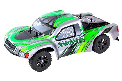 XciteRC 30407000 RC Auto Shortcourse one12 - 2WD Ready To Race Modellauto, grüne Karosserie 1:12 mit 2.4 GHz Fernsteuerung