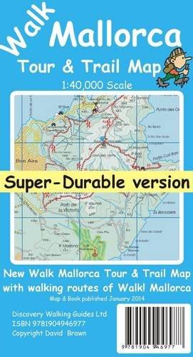 Walk Mallorca (North & Mountains) Tour & Trail Super-Durable Map por David Brawn