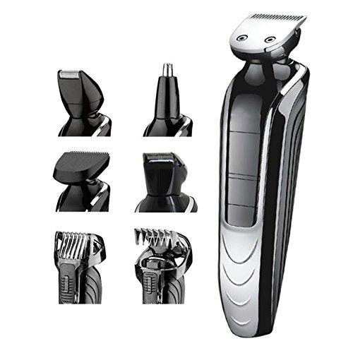 Men Es Electric Haarschneider,Multi Grooming Kit Mit Rasierer Bart Nase Haar Trimmen LCD-Anzeigelicht Drahtlose Nutzung Wiederaufladbar Für Erwachsene Und Kinder Verwenden Hmhope (Kit Grooming Haar)