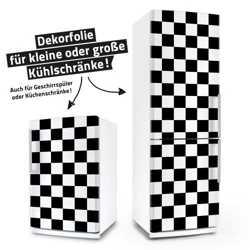 Kühlschrank- & Geschirrspüler-Folie --- Rockabilly – Karo --- Aufkleber Dekorfolie Front Spülmaschine 50er
