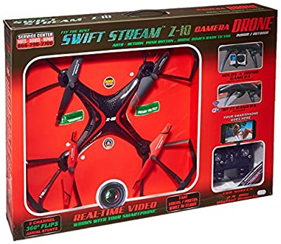 Swift Stream Indoor/Outdoor Z-10 Camera Drone, Black by Swift Stream
