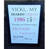 Marco de personalizable palabra 'My Dearest amigo 'gift mejores amigos cumpleaños hecha a mano