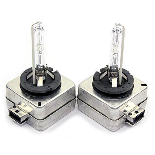 2x Stück D1S Set Xenon Brenner lampen D1S HID 6000K 35W 6000K 12V + 10Stück Lampen Blau C5W 36mm