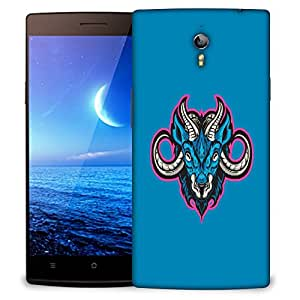 Snoogg Blue Sheep Designer Protective Back Case Cover For OPPO FIND 7
