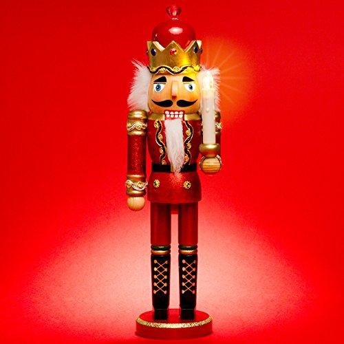 SIKORA Serie C aufwändig gestaltete XL Deko Nussknacker Figur aus Holz - mit LED Kerze und...