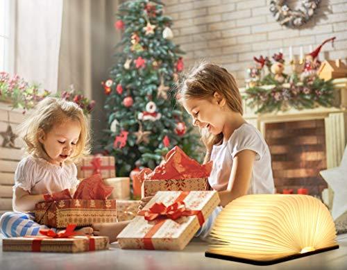 Hölzerne faltbare Buch-Lampe,LED-Licht mit Akku - 6