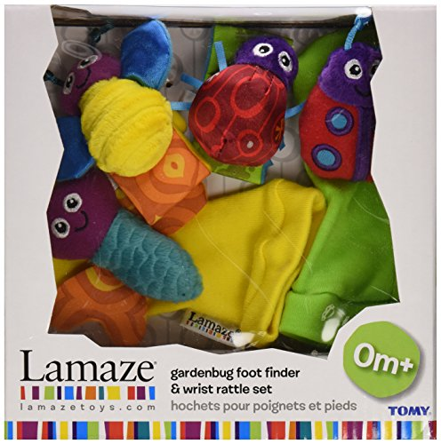 Image of Lamaze Gardenbug Foot Finder and Wrist Rattle Set
