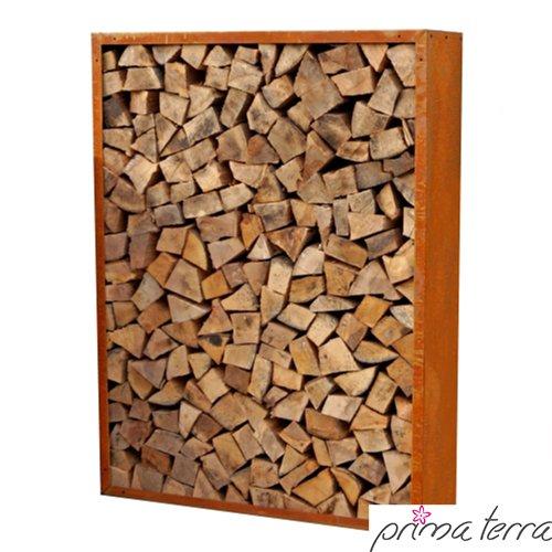 rayon pour bois de chauffage prima terra infinita patine acier longueur 158cm largeur 158cm profondeur 35cm