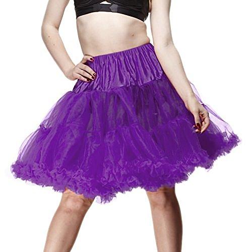 Hell Bunny Petticoat SWING SHORT purple/purple Purple