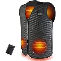 SHAALEK Chaleco Calefactable Hombres Con Bateria Moto,Chaqueta Calefactable Chaleco Calefactable USB De 10000mAh ,Chaleco Calefacción Para Senderismo, Caza, Motociclismo