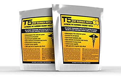 T5 Fat Burners Patches : Detox & Weight Loss Patches - Diet Pills Alternative / Accessory (28 Patches - 1 Month Supply) from Biogen Health Science