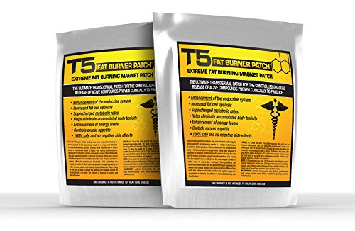 T5 Fat Burners Patches : Detox & Weight Loss Patches - Diet Pills Alternative / Accessory (28 Patches - 1 Month Supply) -