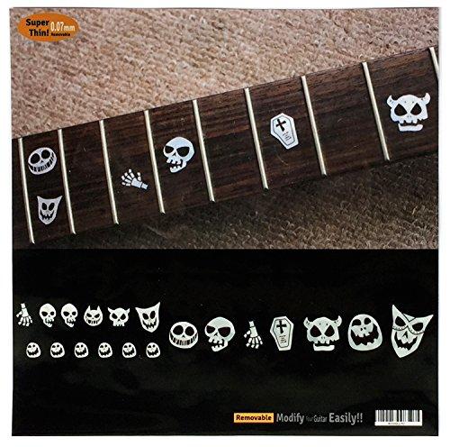 Griffbrett Marker Inlay Aufkleber Decals für Gitarre und Bass-Totenkopf Masken