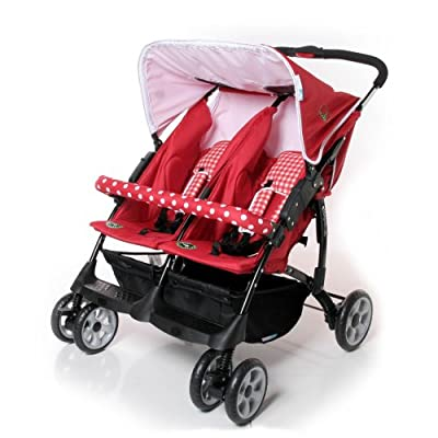 Zwilling Buggy Vegas Twin Red Checked