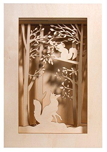 Rayher 46301000 Kit Bricolage Legno Cornice 3D, Bosco, F