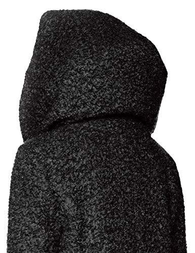 ONLY NOS Damen Mantel onlSEDONA Boucle Wool Coat OTW NOOS, Schwarz (Black Detail:Melange), 34 (Herstellergröße: XS) - 3