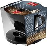 Melitta Porte-filtre, Pour Filtre à Café 1x2, Compatible avec 1 Verseuse ou 2 Tasses, Plastique, Pour Over, Noir
