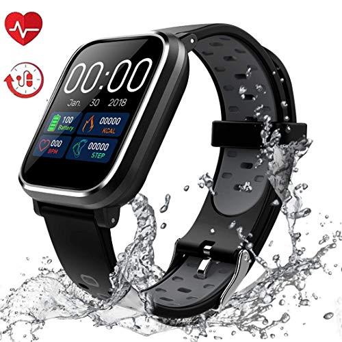 Pulsera de Actividad Inteligente,  IP68 Impermeable Reloj Inteligente Pulsera Actividad Inteligente para Deporte,  Reloj de Fitness con Podómetro Smartwatch- HS5