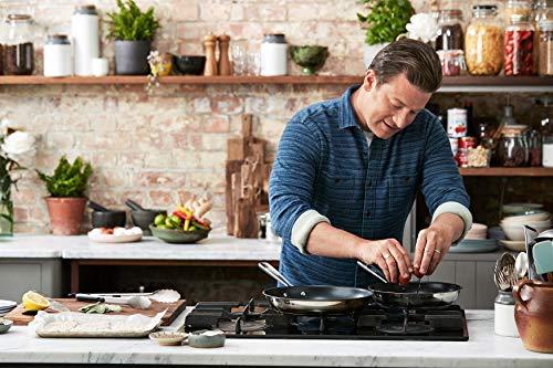 Tefal Jamie Oliver Brushed E011S3.Veg Juego de sartenes, Acero Inoxidable
