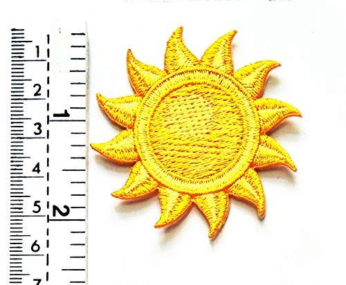 3865a7993aceb Gelbe und orangefarbene Sonne Cartoon Kinder Kinder Patch Weste/Jacke Biker  Motorrad Rider Biker Tattoo