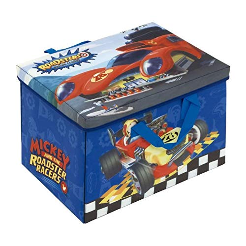 Mickey Mouse - Boîte de rangement avec tapis - Dimensions (fermée) : 41 x 31 x 28 cm - Dimensions (ouverte) : 84 x 95 cm